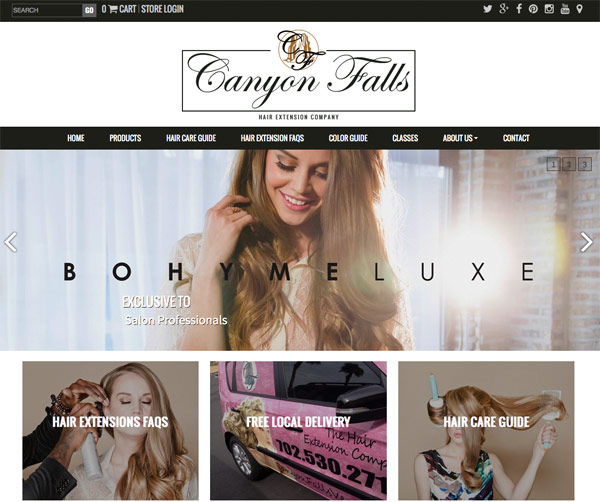 The Hair Extension Company Screenshot